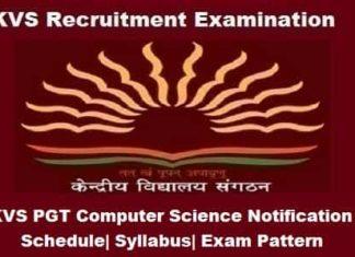 KVS PGT Computer Science, KVS PGT Computer Science Notification, KVS pgt cs Exam 2018