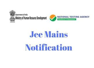 Jee Mains Notification