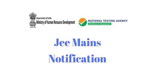 Jee Mains Notification