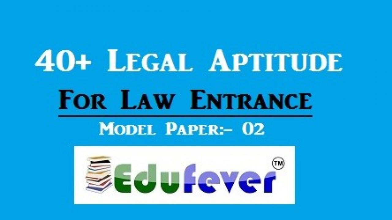 40+ Legal Aptitude Questions with Answers | Books | Study