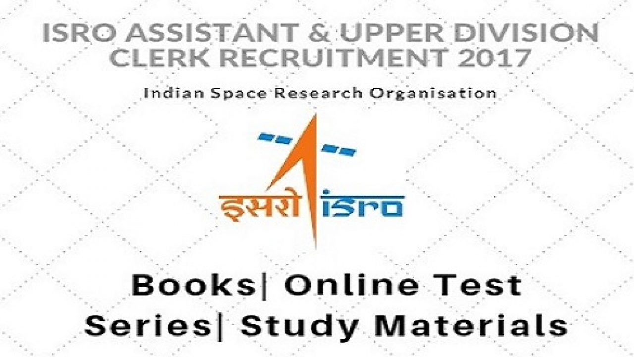 Best Books for ISRO Assistant & UDC: Subject Wise Divided