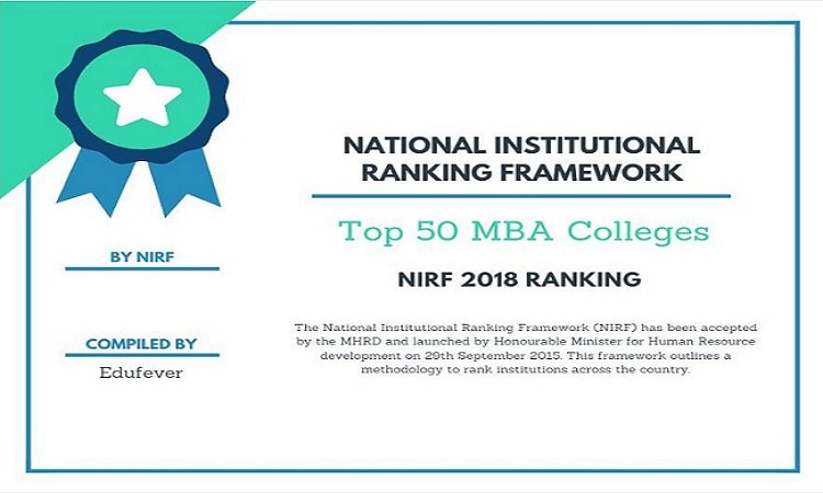 NIRF 2018 Ranking for Top 50 MBA Colleges in India