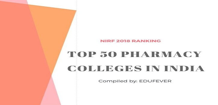 Top 50 Pharmacy Colleges in India by NIRF 2018