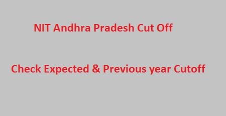 NIT Andhra Pradesh 2018 cut off