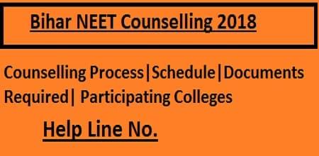 Bihar NEET 2018 Counselling, Bihar NEET Counselling 2018
