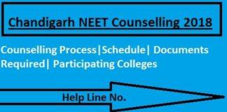 Chandigarh NEET 2018 Counselling, Chandigarh NEET Counselling, Chandigarh NEET Counselling 2018