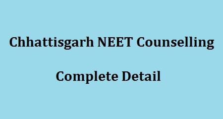 Chhattisgarh NEET Counselling 2018