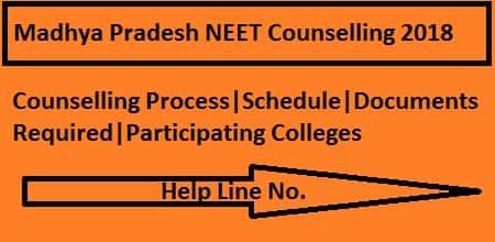 MP NEET 2018 Counselling, MP NEET Counselling, Madhya Pradesh NEET Counselling 2018-min