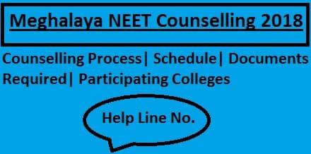 Meghalaya NEET Counselling 2018