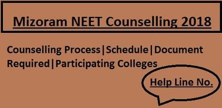 Mizoram NEET Counselling 2018