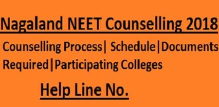Nagaland NEET Counselling 2018