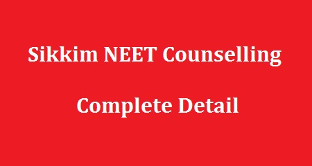 Sikkim NEET Counselling 2018