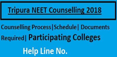 tripura NEET Counselling 2018