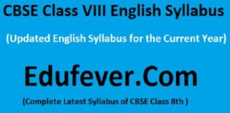 Class VIII English Syllabus, CBSE Class 8 English Syllabus, CBSE Class 8 English syllabus