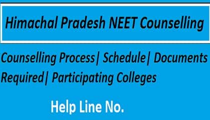 HP NEET 2018 Counselling, HP NEET Counselling, HP NEET Counselling 2018