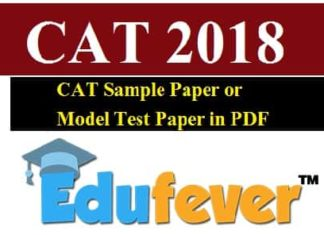 CAT sample paper or Model Test papers