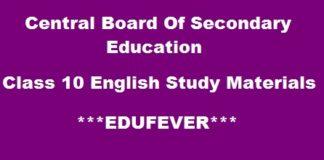 CBSE Class 10 English Support Materials