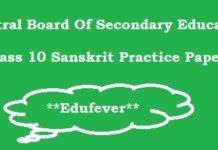 CBSE Class 10 Sanskrit Study Materials