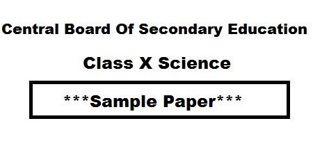 cbse sample paper class 10 2019 pdf