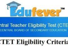 CTET Eligibility Criteria 2018