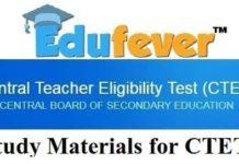 study materials for CTET, CTET Study materials 2018