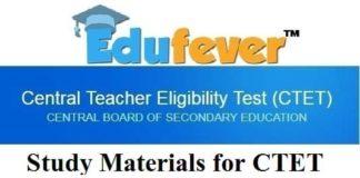 study materials for CTET, CTET Study materials 2019
