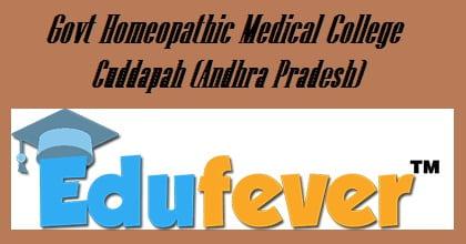 Govt Homeopathic Medical College Cuddapah, Govt Homoeopathic College Cuddapah