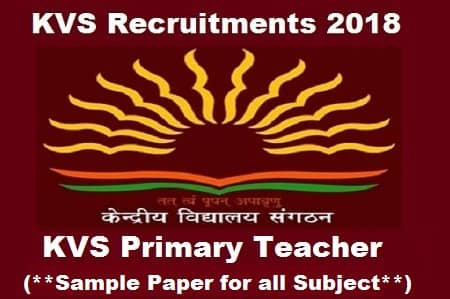download kvs primary teacher exam sample paper in pdf get free pdf