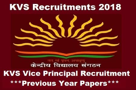 Download KVS Vice Principal Previous Year Question Papers in PDF