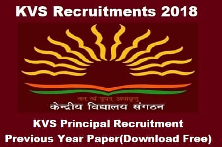 kvs principal exam previous year paper previous year paper get free