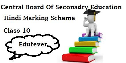 CBSE Class 10 Hindi Marking Scheme