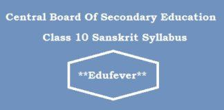 CBSe Class 10 Sanskrit Syllabus