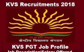 KVS PGT salary, KVS PGT Job Profile, KVS Pgt JOB Profile