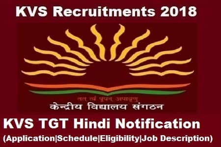 KVS TGT Hindi Exam notification, KVS TGT Hindi Notification, KVS TGT Hindi Exam, KVS TGT hindi Notification