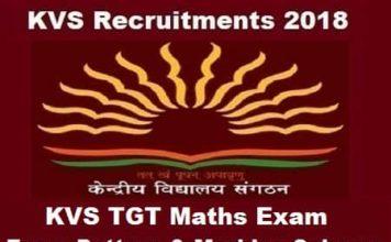 KVS TGT Maths Exam Pattern, KVS TGT Maths Marking Scheme, KVS TGT math Exam pattern
