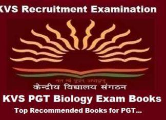 KVS PGT Biology Books, KVS PGT Biology exam Preparation Books, KVS PGT Biology Exam guide, KVS pgt biology books