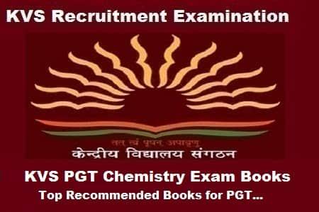KVS pgt chemistry exam books