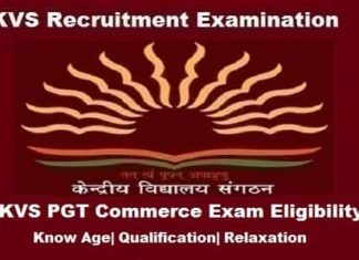 KVS PGT Commerce Eligibility Criteria, KVS PGT Commerce Age limit, KVS pgt commerce eligibility