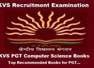 KVS PGT Computer Science Books, KVS PGT Computer Science exam Preparation Books, KVS PGT Computer Science Exam guide, KVS pgt cs books