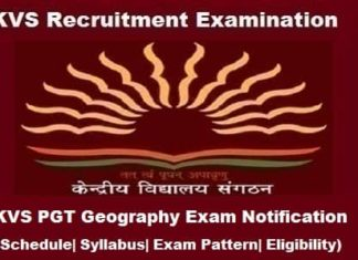 Syllabus for KVS PGT Geography, KVS PGT Geography Syllabus in PDF, KVS PGT Geography Syllabus, KVS pgt geography notification