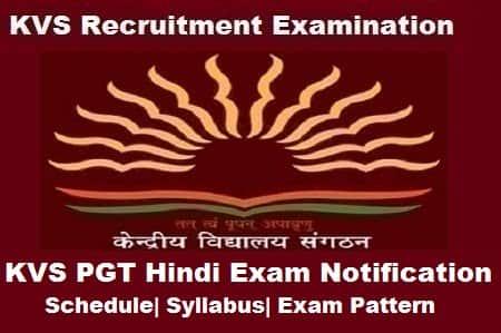 KVS PGT Hindi Exam 2018, KVS PGT Hindi 2018 Notification, KVS pgt hindi notification