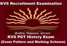 KVS PGT History Exam Pattern, KVS PGT History Marking Scheme, KVS pgt history Exam Pattern