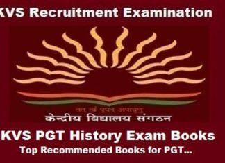 KVS pgt history exam books