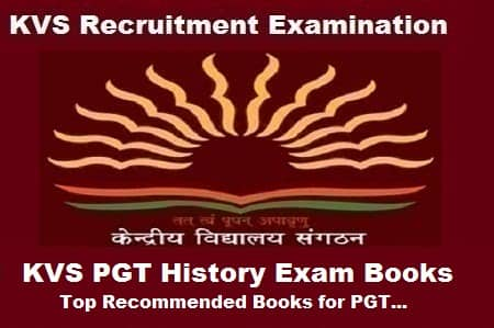 KVS pgt history exam books