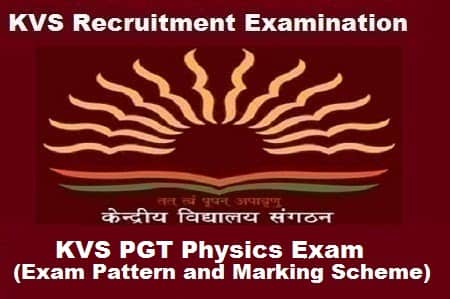 KVS PGT Physics Exam Pattern Type Of Question And Marking