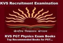KVS PGT Physics Exam guide, KVS PGT Physics exam Preparation Books, KVS PGT Physics Books, KVS pgt physics exam books