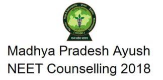 MP Ayush NEET Counselling 2018