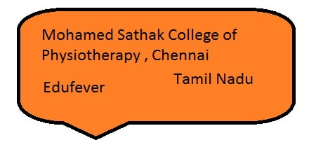 Mohamed Sathak AJ College of Physiotherapy Chennai, MSAJ Chennai
