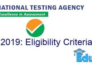 NEET 2019 Eligibility Criteria
