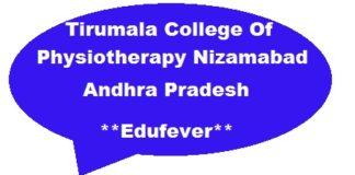 Tirumala Physiotherapy College Nizamabad
